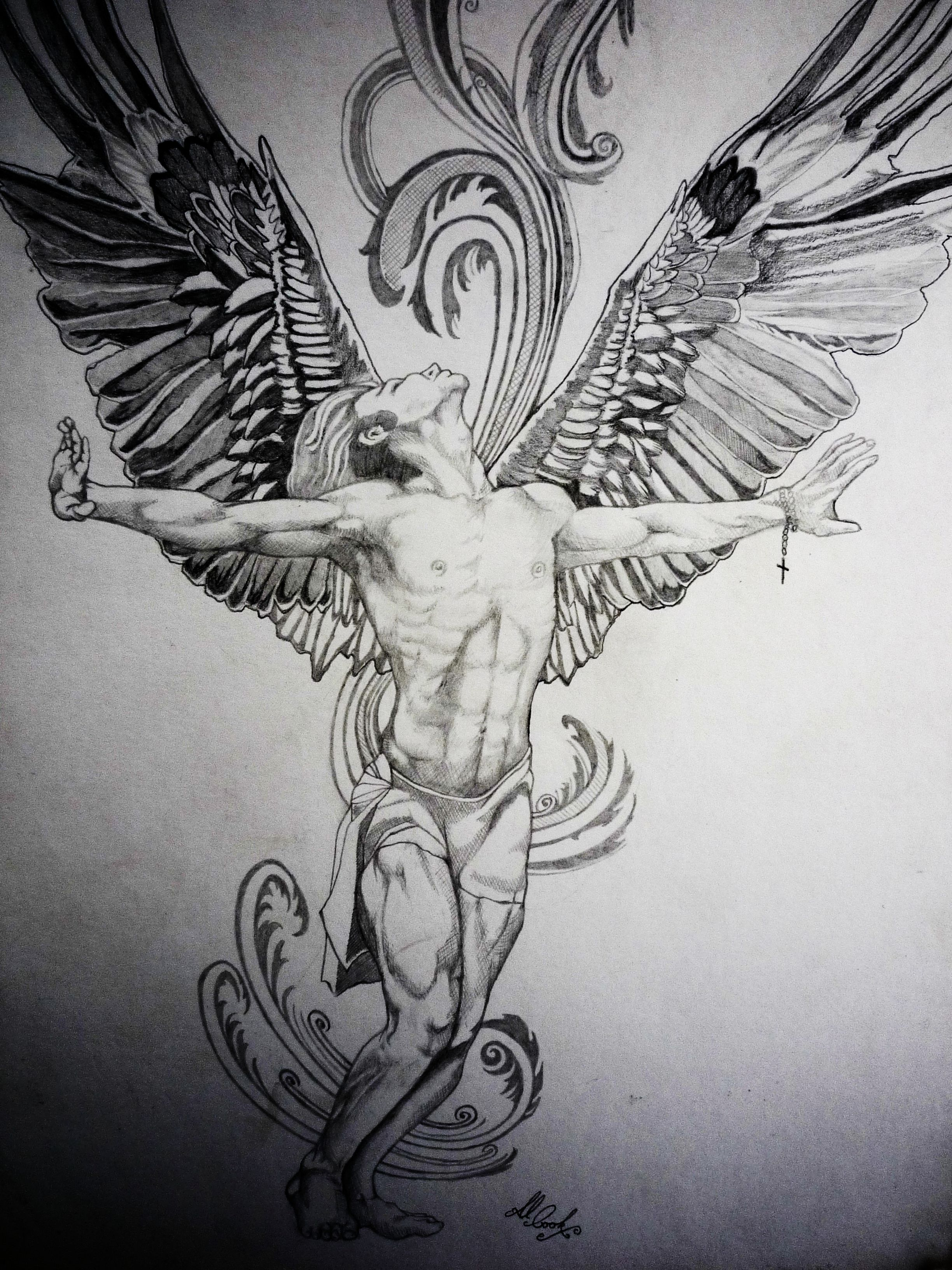 angel tattoo the unravelling of al cook. Black Bedroom Furniture Sets. Home Design Ideas