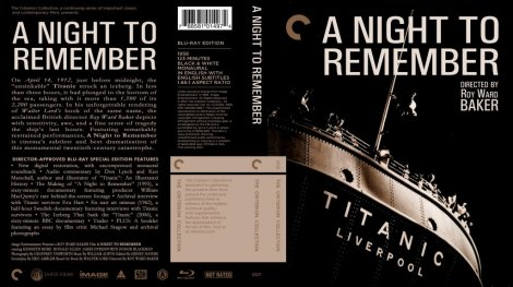 A Night To Remember Blu Ray Cover