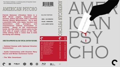 American Psycho Blu Ray Cover