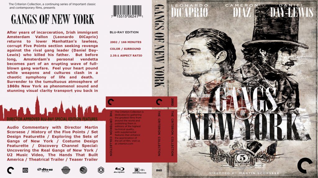 movie artwork the unravelling of al cook gangs of new york blu ray cover