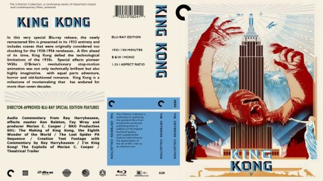 King Kong Blu Ray Cover