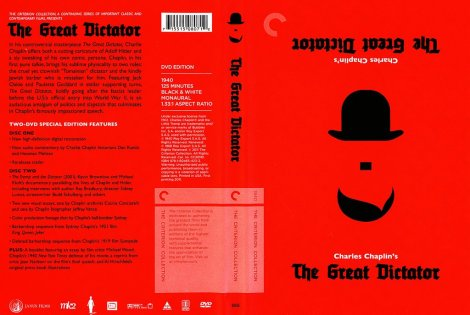 The Great Dictator Blu Ray Cover